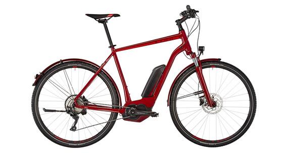 Cube Cross Hybrid Pro Allroad 400 E-hybride fiets, rood